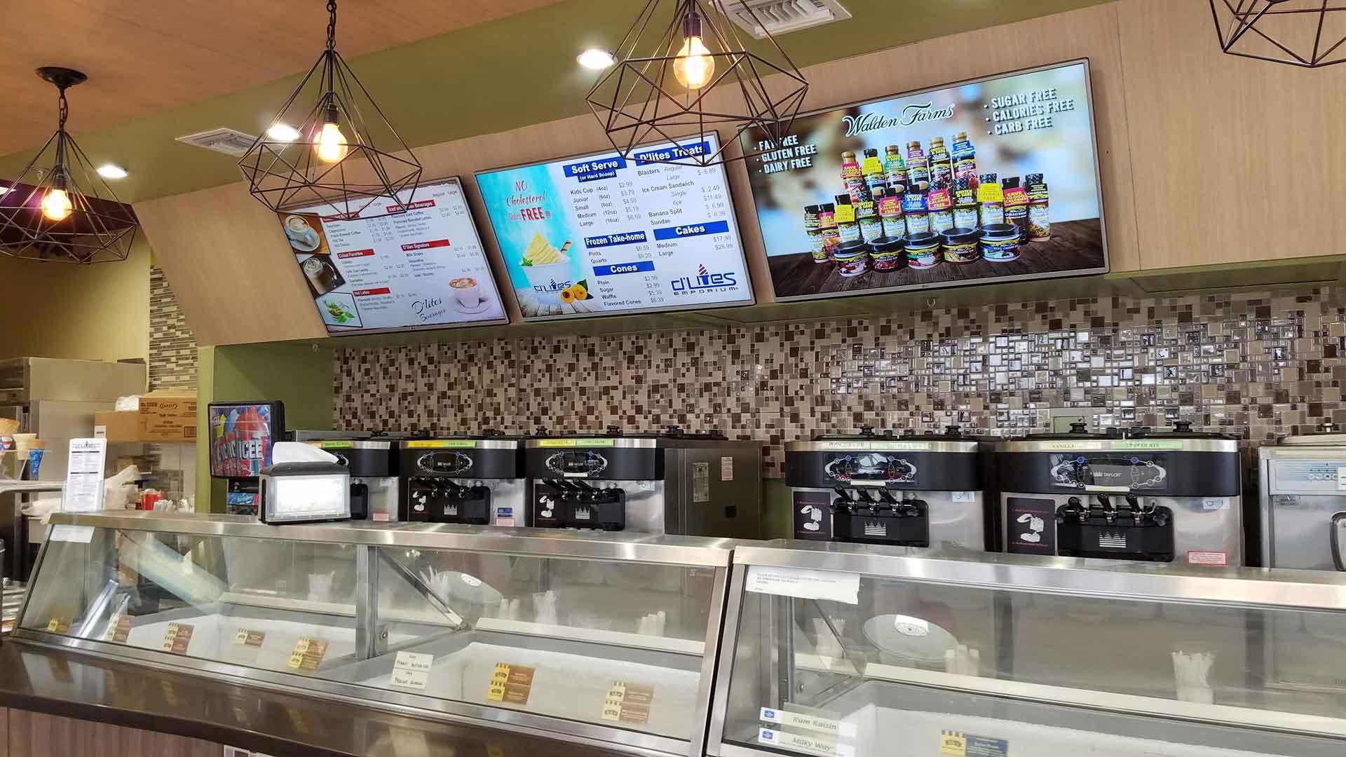 D'lites Ice Cream Digital Menu Boards